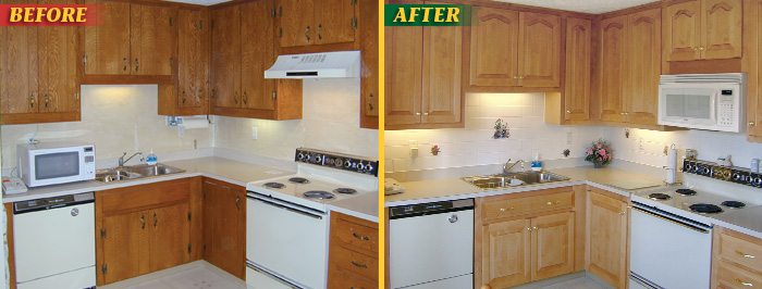 Kitchen Cabinets Refacing Before And After before & after cabinet refacing picture gallery: american wood reface