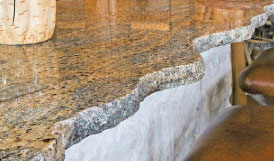 Granite Sculpted Edge Countertop Replacement
