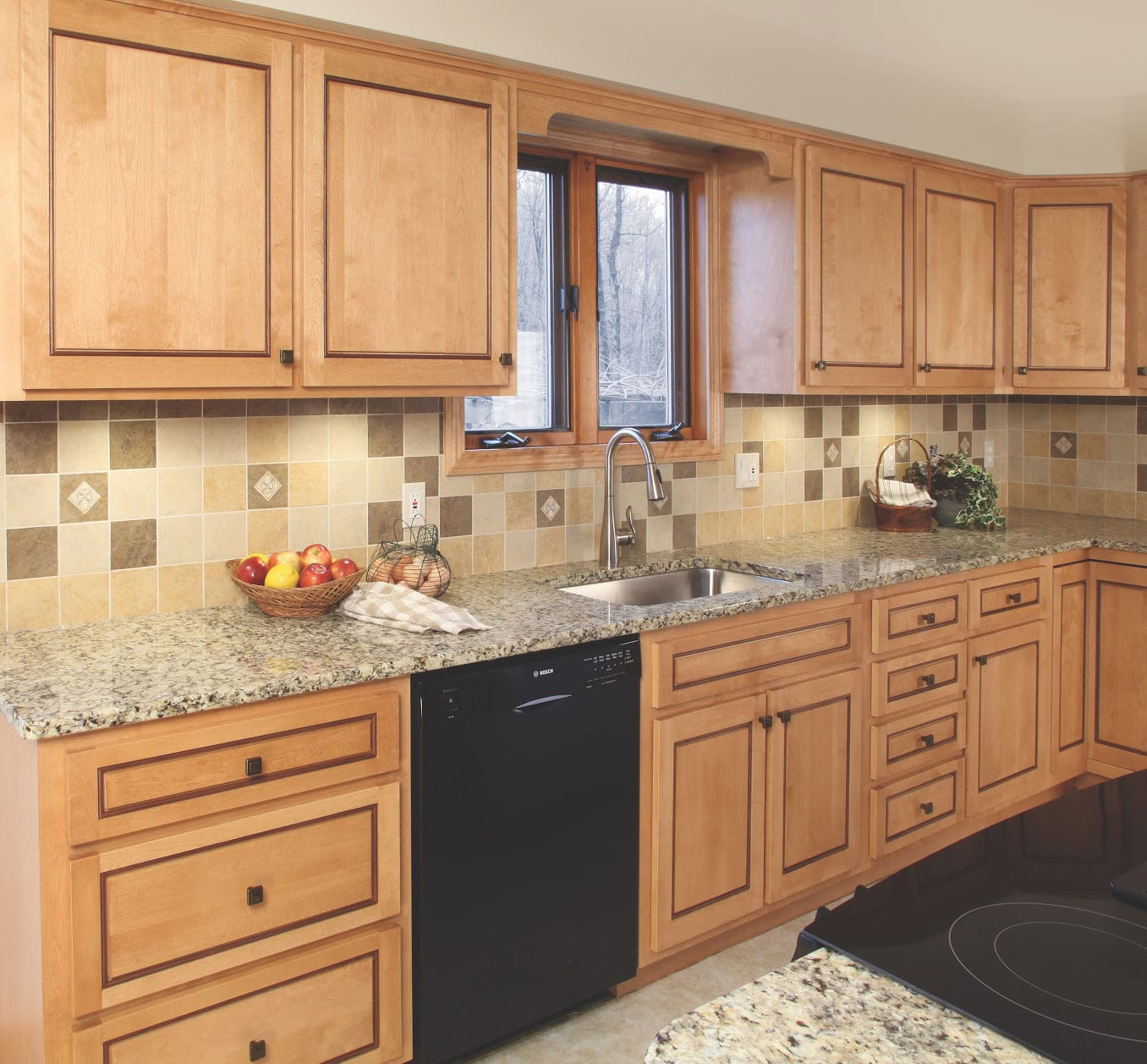 a picture of a Gray sink Run left in an old and contemporary style kitchen refacing