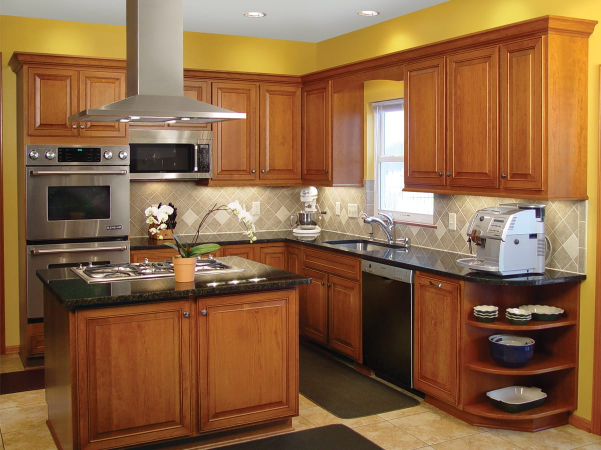 range in island kitchen traditional kitchen with island range and hood american wood reface 9154