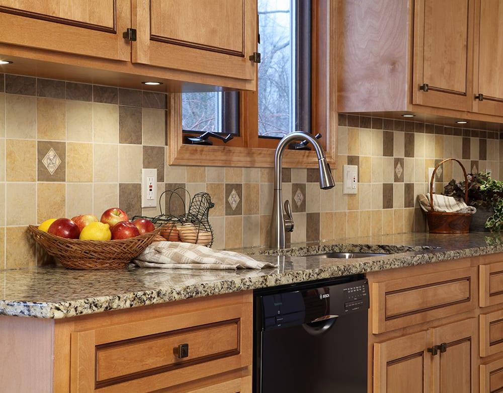 Kitchen with New Venetian Gold granite countertops