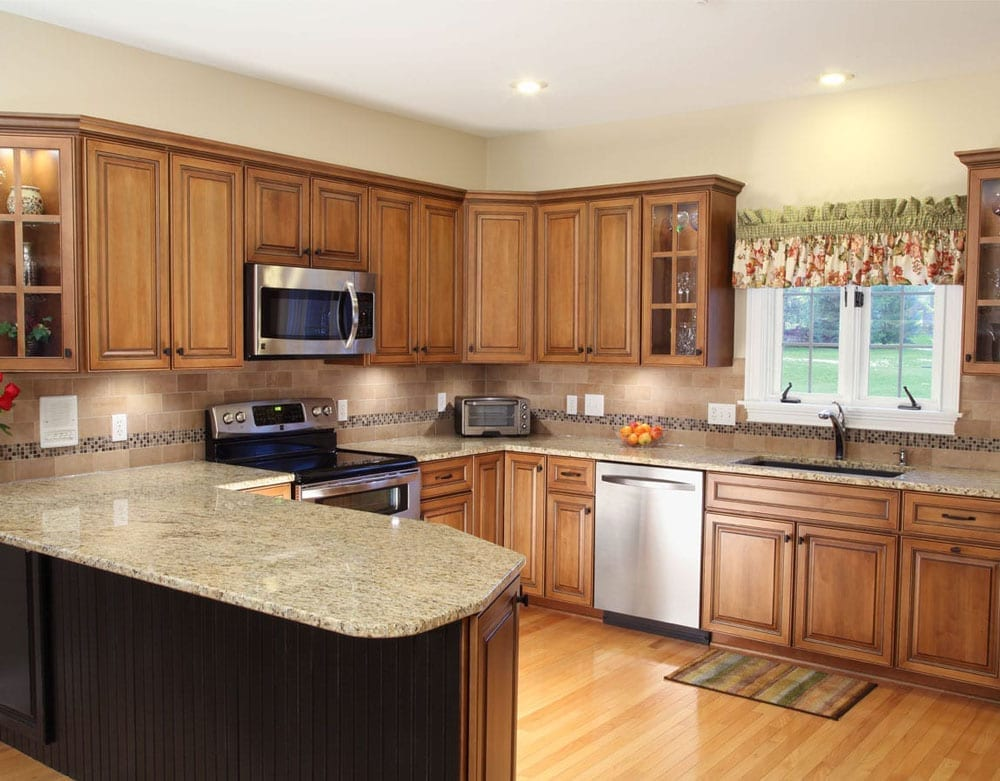 Gorgeous granite kitchen transformation after picture