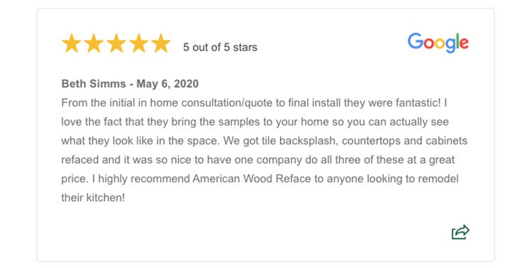 Example Five Star Review