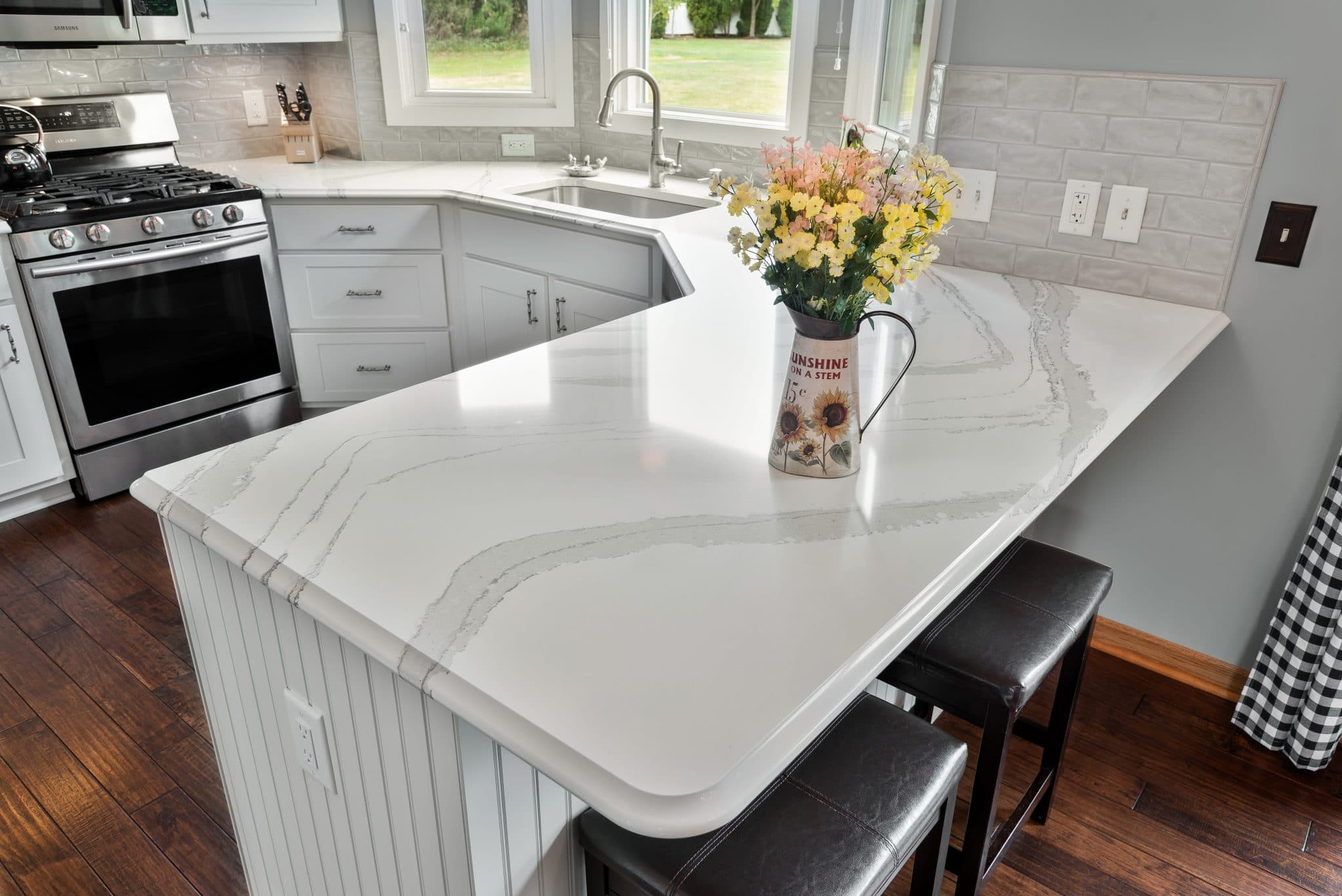 Modern Contemporary White Birch Kitchen Medina Ohio